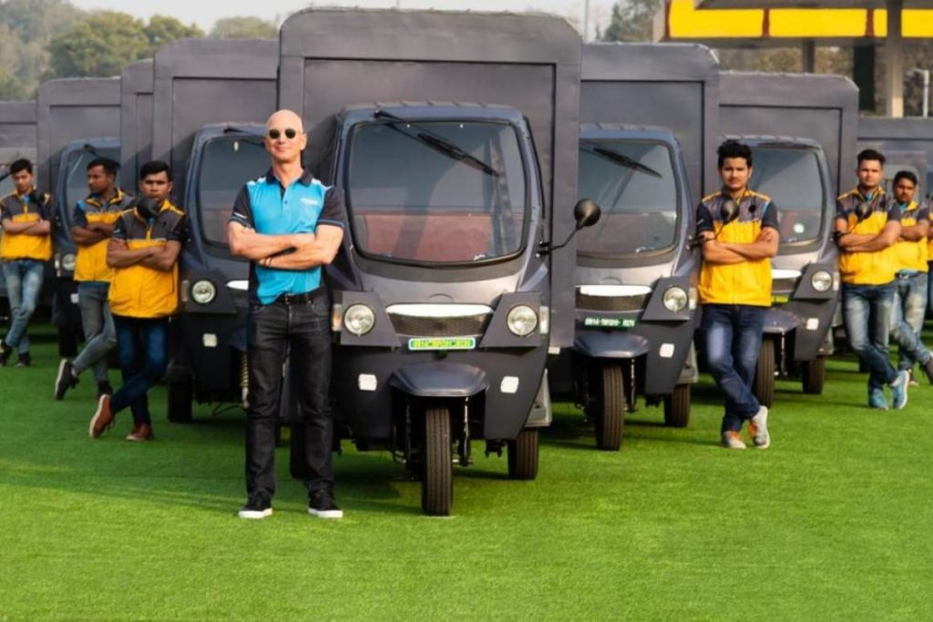 Amazon CEO, Jeff Bezos announced roll out of 10,000 electric rickshaws