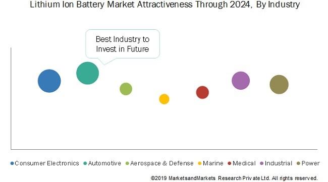 market segment of the lithium-ion batteries