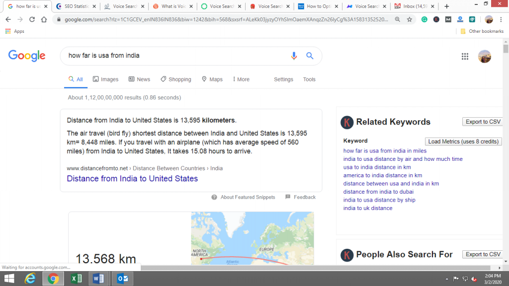 how far is usa from india