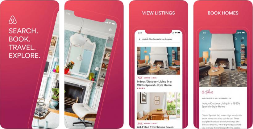 App screenshots and views