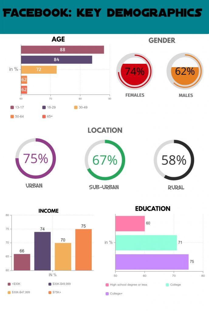 Facebook key demographics