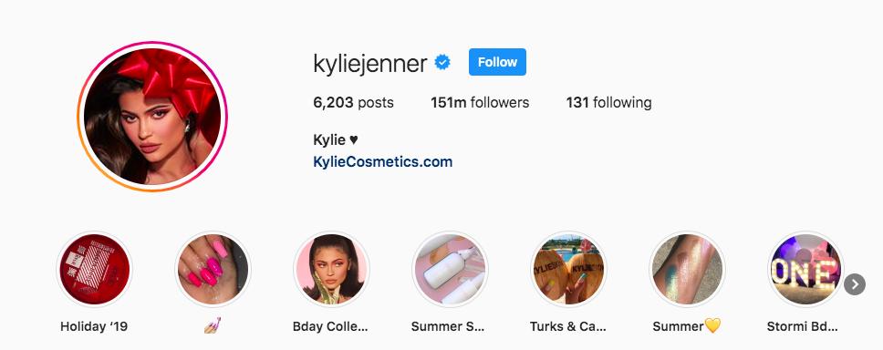 Kyliejenner Instagram profile
