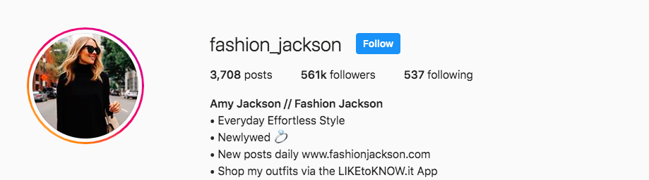 Macro influencer fashion jackson