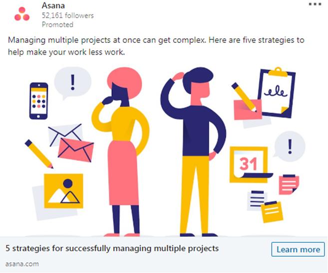 Asana managing multiple project Ad