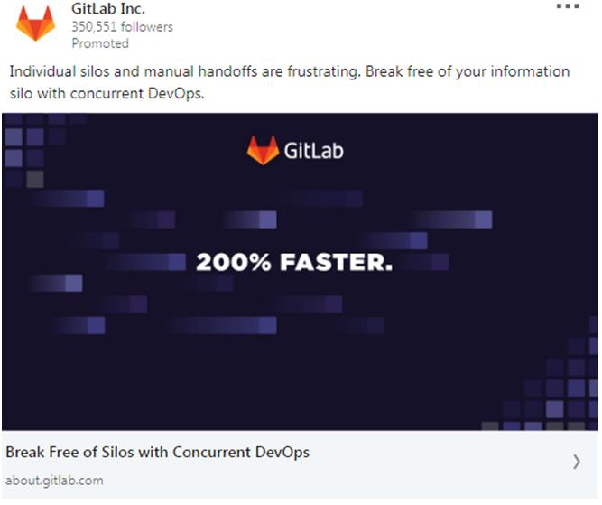 GitLab Ad example