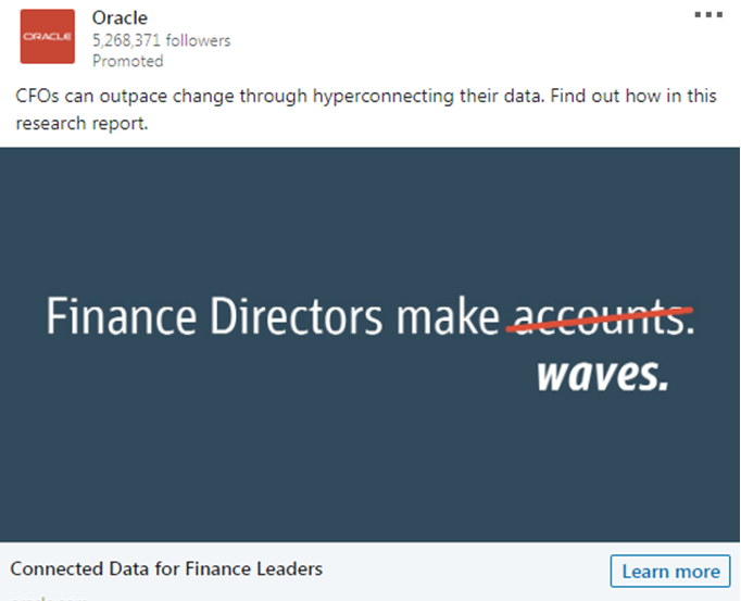 Oracle Finance leaders Ad
