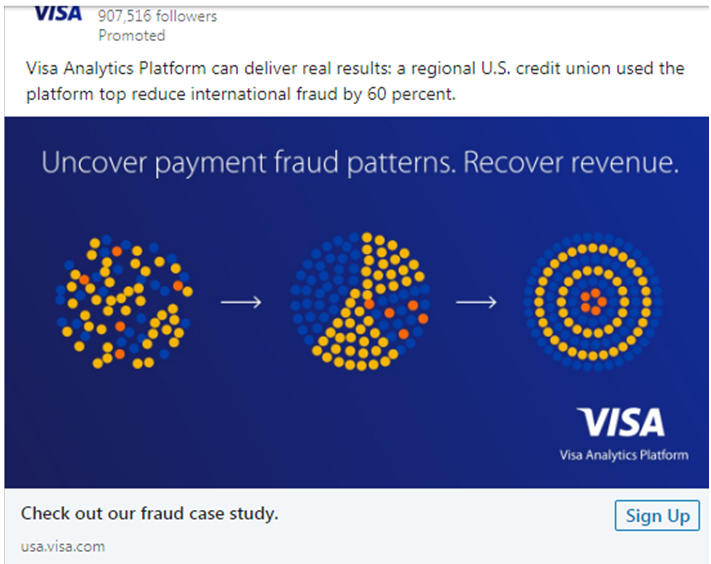 Visa Fraud Case study Ad