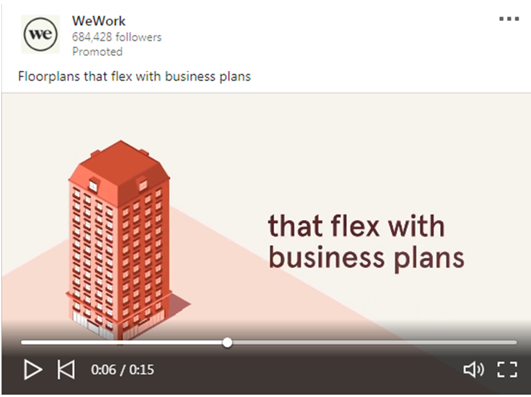 WeWork video Ad 1