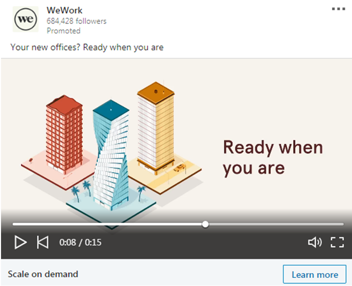 WeWork video Ad 2
