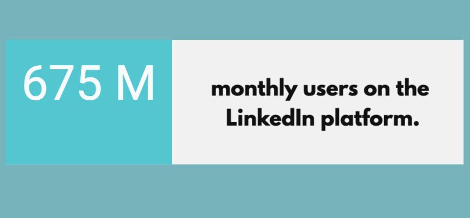 monthy users on Linkedin platform