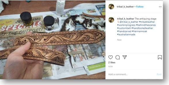 tribal k leather
