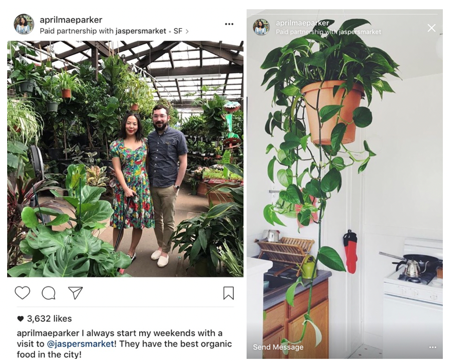 Branded Content for Jaspers Market Instagram