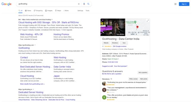 Rank in top of Search Engine results