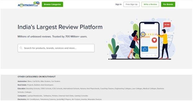review platform mouthshut