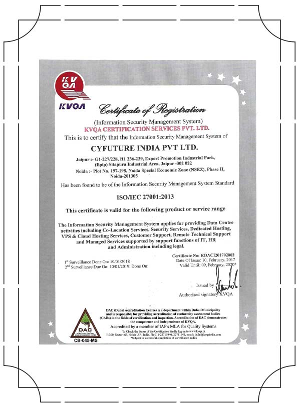 Cloud Security Certification India Best Cloud 2018
